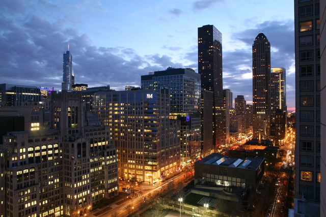 view from 840 North Lake Shore, Chicago